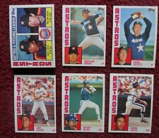 1984 Topps Houston Astros Baseball Team Set (29 Cards) ~ Nolan Ryan Mike Scott +