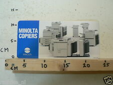STICKER,DECAL MINOLTA COPIERS JAPAN LARGE