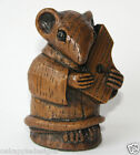 Church Mouse Musician Medieval Carving Psaltery Harp Musical Collectable Gift