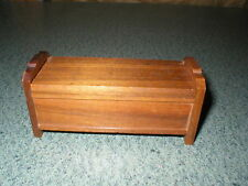 VINTAGE STROMBECKER WALNUT WOOD DOLL HOUSE MINIATURE FURNITURE CEDAR CHEST #1