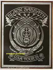 OBEY Giant Shepard Fairey mini Art Poster Print Black Sabbath Crescent 2013