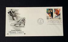 NRMT FDC 1984 WINTER OLYMPIC GAMES 2 20 CENT STAMPS ICE DANCING ALPINE SKIING