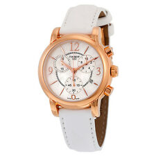 Tissot Dressport Mother of Pearl Dial White Synthetic Leather Ladies Watch