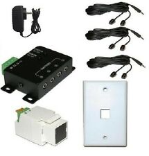 IR Repeater Remote Control Extender up to 6 components up to 300' from target!