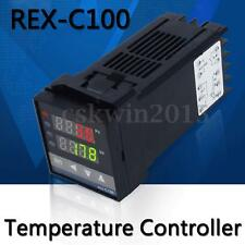 4W 220V Digital REX-C100 PID Temperature Controller With K Type Thermocouple New