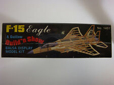 Guillows  flying model airplane kits F-15 Eagle balsa wood construction