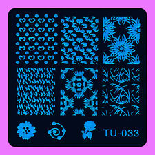 NEW Stamping Manicure Image Nail Art Image Stamp Template Tool Plate Polish T-33