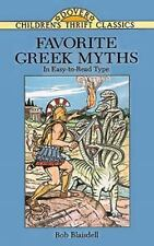 Favorite Greek Myths (Dover Children's Thrift Classics) Bob Blaisdell Paperback