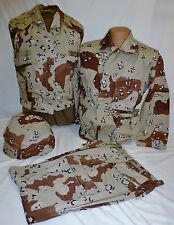 Desert Storm 6 Color Chocolate Chip Shirt Pants Vest Helmet Cover Set X-Small