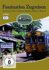 FASZINATION ZUGREISEN - TANSANIA,NAMIBIA,INDIEN & THAILAND 2 DVD NEU