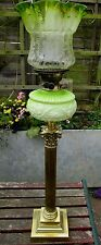 SUPERB QUALITY 36in VICTORIAN OIL LAMP & ORIGINAL SHADE