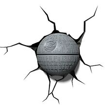 Lampada da muro 3D mini Morte Nera Guerre Stellari - Led Star Wars Death Star