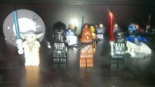 4 Custom Star Wars Minifigures!Yoda,Tie fighter,Chewbacca,Darth Vader comp lego