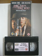 THE QUICK AND THE DEAD VHS VIDEO.EAN:5023940170829.Cert.15.Crowe,Stone,DiCaprio.