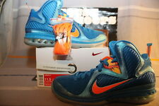 Nike Lebron 9 IX China US Men Size 11.5 [469764-800] Blue/Orange
