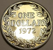 Huge Rare Proof Liberia 1972 Dollar~Only 4,866 Minted~Proofs R Best~Free Ship