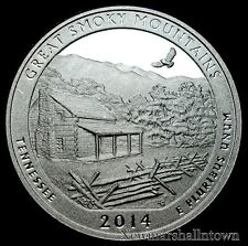 2014 S Great Smoky Mountains TN ~ Mint Silver Proof U.S. Coin from Original Set