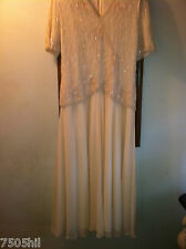 LAWRENCE KAZAR/NEW YORK MOTHER/BRIDE BEADED DRESS SIZE LARGE