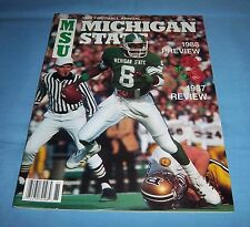 Michigan State Spartans 1988 Football Preview Magazine Bobby McAllister