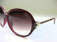 New Authentic Chloe CE639SL 603 Bordeaux/Burgundy Gradient 59mm Sunglasses