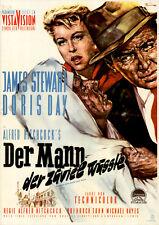 Der Mann, der zuviel wusste ORIGINAL DIN A2 Kinoplakat Hitchcock / Stewart / Day