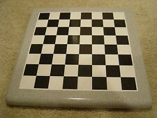 """Chess Board - POLISHED Corian Wilsonart Solid Surface - 2.75"""" Squares"""