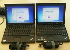 Lot of 2 Lenovo thinkpad x201 laptop Core i5  2.40GHz 4GB 250GB window 7 64-bit