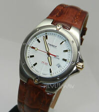 Mens Swiss Tissot Small White Date Dial Sapphire Crystal PR 200 Watch Unisex