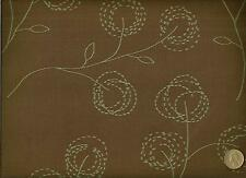 Crypton® CF Stinson Cottonwood Chocolate Mint Modern Floral Upholstery Fabric