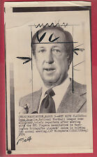 "Pete Rozelle Mar.5, 1976  ""1976 NFL Players Union Meeting"" Examiner Library"