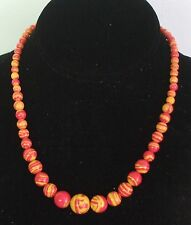 """6-14MM Multi Red Turkish Turquoise Gemstone Necklace 18"""" NEW (in silk gift bag)"""