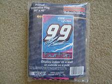 "NASCAR JEFF BURTON # 99 EXIDE BURTON ON BOTTOM 28""X40"" POLE FLAG"