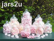 12 Jar Party Pack by jars2u with 2 Scoops and 100 Pink Sweet Bags- Birthdays etc
