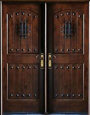 "Knotty Alder Exterior Front Entry Double Door 30""x80""x2 Right Hand Swing In"