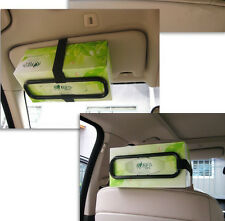 SH CA Auto Accessories Car Sun Visor Tissue Box Holder Paper Napkin Seat Back