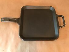 "VINTAGE LODGE CAST IRON 12"" SQUARE GRIDDLE P12SG"