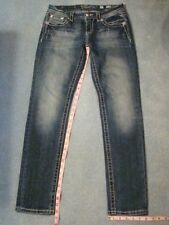 Miss Me E7002ES6R Mid Rise Easy Skinny Blue Jeans * Size 27 * Measures 30 x 30.5