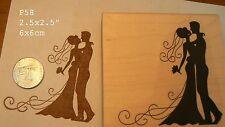 P58  Wedding silhouette rubber stamp