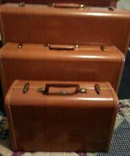 Vintage Samsonite Luggage 3 pcs set 1942 FREE SHIPPING