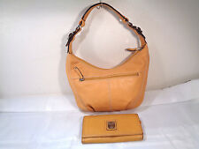 Tignanello Yellow Leather Hobo Handbag & Matching Wallet, Exc.