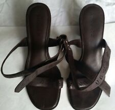 Timberland, Womens, Dark Brown Leather Sandals with Strap, U.K. 5