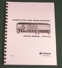 Swan 700-CX Operations Manual: Premium Card Stock Covers & 28lb Paper!
