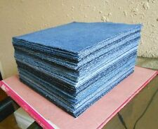 "(25) 8.5"" denim UPCYCLED BLUE JEAN Fabric Squares RAG QUILT Scraps blocks"