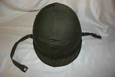 US Military Issue Vietnam Era M1 Helmet with Linner and OD Cover Complete