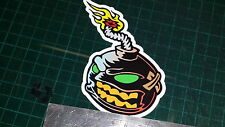 1x  full colour BOMB printed sticker decal, Funny, JDM VAG, FACE EVIL LOL, YOLO
