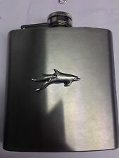 Dolphins PP-A05 English Pewter 6oz Stainless Steel Hip Flask