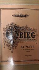 CRATERE GRIEG: SONATA in Sol Maggiore: OPUS 13: punteggio di musica (f5)