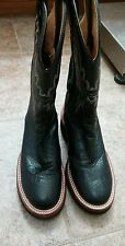 Justin 5005 Tekno Crepe black smooth quill Ostrich western cowboy boot 5 1/2 D