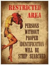 Restricted Area, Strip Searched, Funny/Humorous, Novelty Fridge Magnet
