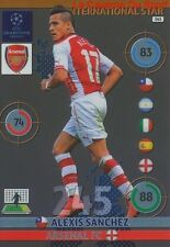 343 ALEXIS SANCHEZ ARSENAL.FC STAR CARD CHAMPIONS LEAGUE ADRENALYN 2015 PANINI